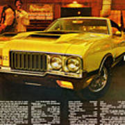 1970 Oldsmobile Cutlass 442 W-30 Art Print