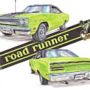 1970 Plymouth Road Runner Art Print