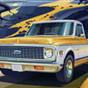 1971 Chevrolet C10 Cheyenne Fleetside 2wd Pickup Art Print
