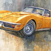 1971 Chevrolet Corvette Lt1 Coupe Art Print