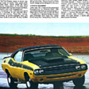 1971 Dodge Challenger T/a Print by Digital Repro Depot