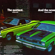 1971 Plymouth Duster 340 And Twister Art Print