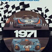 1971 Porsche World Champion Poster Art Print