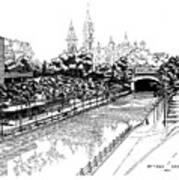 1971 Rideau Canal Ottawa Art Print