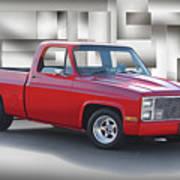 1973 Chevrolet C10 Fleetside Pickup II Art Print