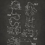 1973 Space Suit Elements Patent Artwork - Gray Art Print by Nikki Marie Smith