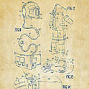 1973 Space Suit Elements Patent Artwork - Vintage Print by Nikki Marie Smith