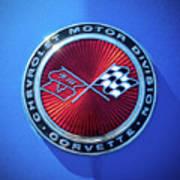 1974 Corvette Sting Ray Convertible Emblem Art Print