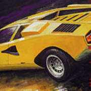 1974 Lamborghini Countach Lp400 Art Print