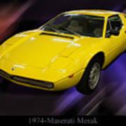 1974 Maserati Merak Art Print
