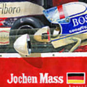 1976 Jarama Marlboro F1 Team Mclaren Jochen Mass Art Print
