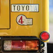 1978 Toyota Land Cruiser Fj40 Taillight Emblem -1191c Art Print