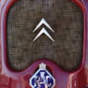1979 Citroen 2cv Speedster Hood Ornament Art Print by Jill Reger