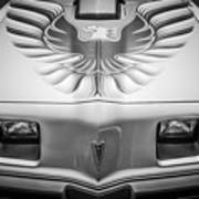 1979 Pontiac Trans Am Hood Firebird -0812bw Art Print