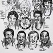 1981 Boston Celtics Championship Newspaper Poster Art Print by Dave Olsen