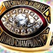 1982 Redskins Super Bowl Ring Art Print by Paul Van Scott