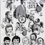 1984 Boston Celtics Championship Newspaper Poster Art Print