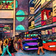 1984 Vision Of Times Square 2015 Art Print