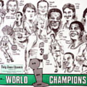 1986 Boston Celtics Championship Newspaper Poster Art Print