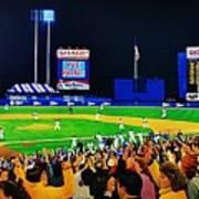 1986 World  Series At Shea Print by T Kolendera
