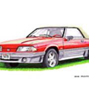 1989 Saleen Mustang Convertible Art Print
