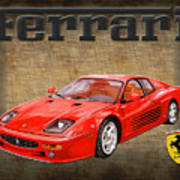 Ferrari F 512m 1995 Art Print