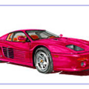 Ferrari F 512 M Russo 1995 Art Print