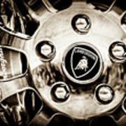 1997 Lamborghini Diablo Roadster  Wheel Emblem -1303s Art Print