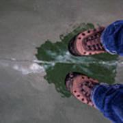 Standing On Thin Ice 2 Art Print
