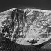 1m3769 Bw East Face Mt Kitchner Art Print
