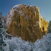 1m6576-winter On El Capitan In 1970 Art Print