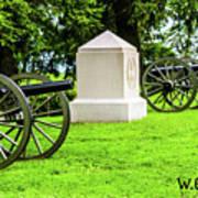 1st Mass Battery Gettysburg National Cemetery Art Print