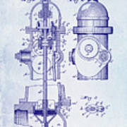 1903 Fire Hydrant Patent Art Print
