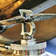 1927 Bentley 6.5 Litre Sports Tourer Hood Ornament Art Print