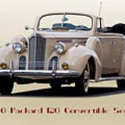 1940 Packard 120 Convertible Sedan Art Print