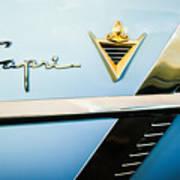 1953 Lincoln Capri Emblem Art Print