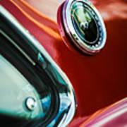 1969 Ford Mustang Mach 1 Emblem Art Print by Jill Reger