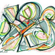 2010 Abstract Drawing Seventeen Art Print