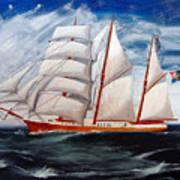 3 Master Tall Ship Art Print
