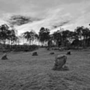 9 Ladies Stone Circle, Stanton Moor, Peak District National Park Art Print