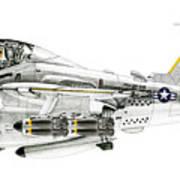 A-6e Intruder Caricature Art Print