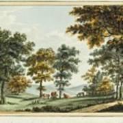 A Scene In The Garden At Brandsbury Art Print