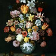 A Still Life Of Flowers Art Print