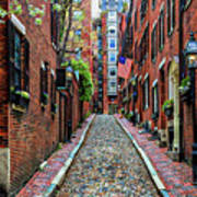 Acorn Street Boston Art Print