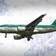 Aer Lingus Airbus A319 Art Art Print