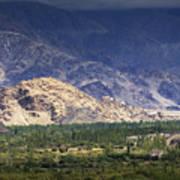 Aerial View Of Leh City Landscape Ladakh Jammu And Kashmir India Art Print