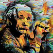 Albert Einstein.. - By Prar Art Print