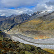 Aletsch Glacier, Switzerland Art Print