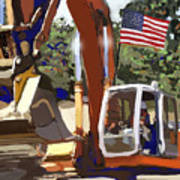 American Tractor Art Print by Brad Burns