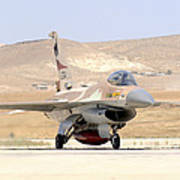 An Israeli Air Force F-16a Netz Taxiing Art Print